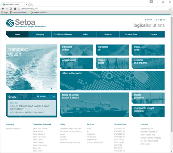 New website for Setoa Italia 1