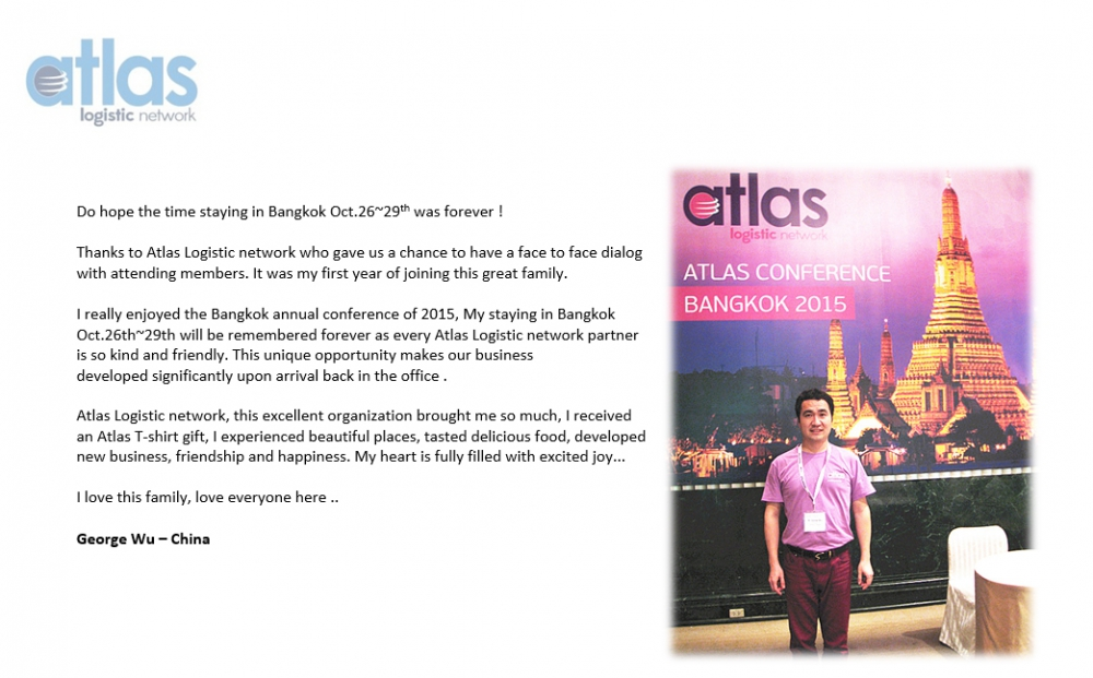 Testimonial Atlas Conference 2015 from George Wu 1