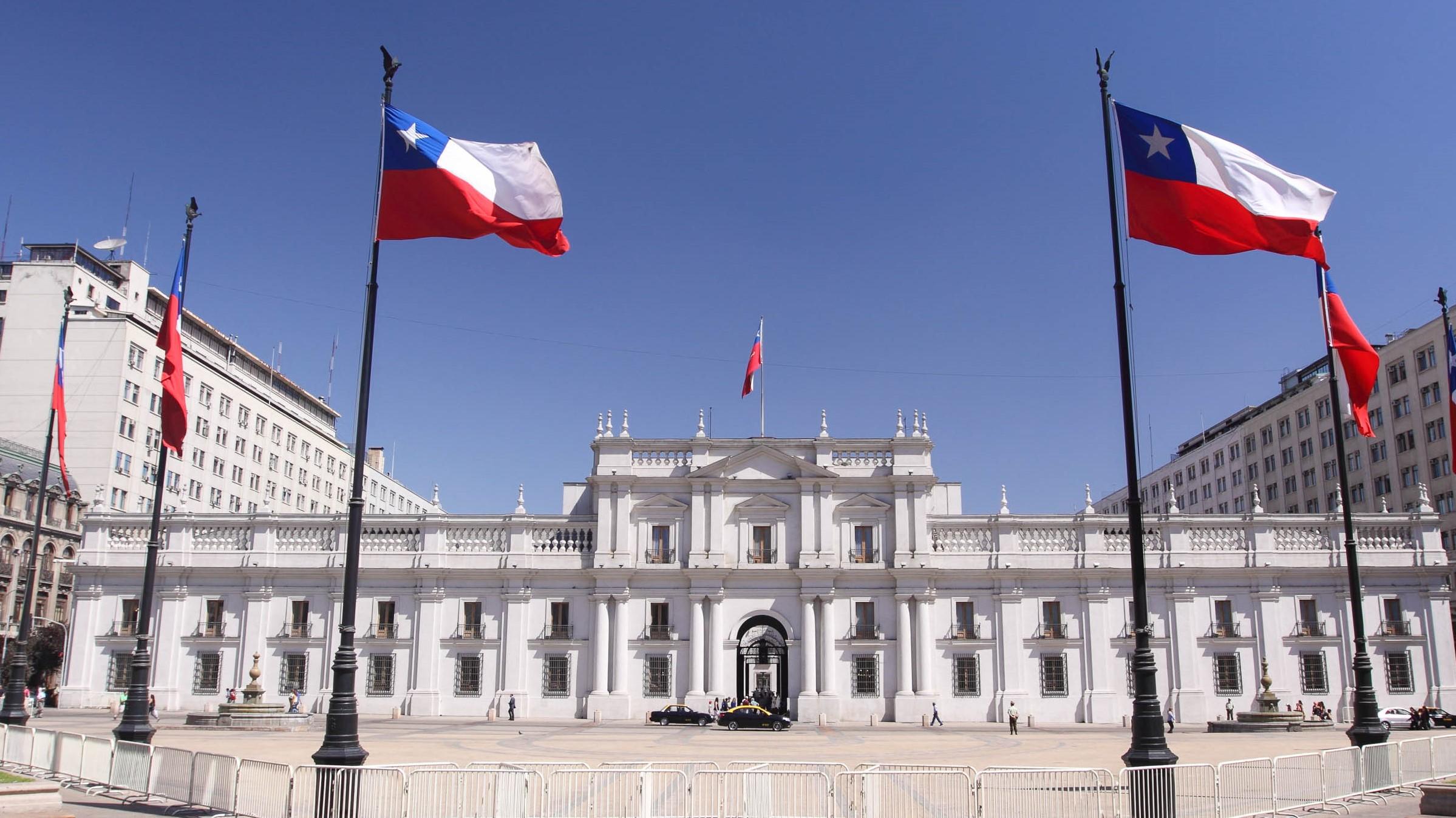 Der La Moneda Palast in Santiago de Chile
