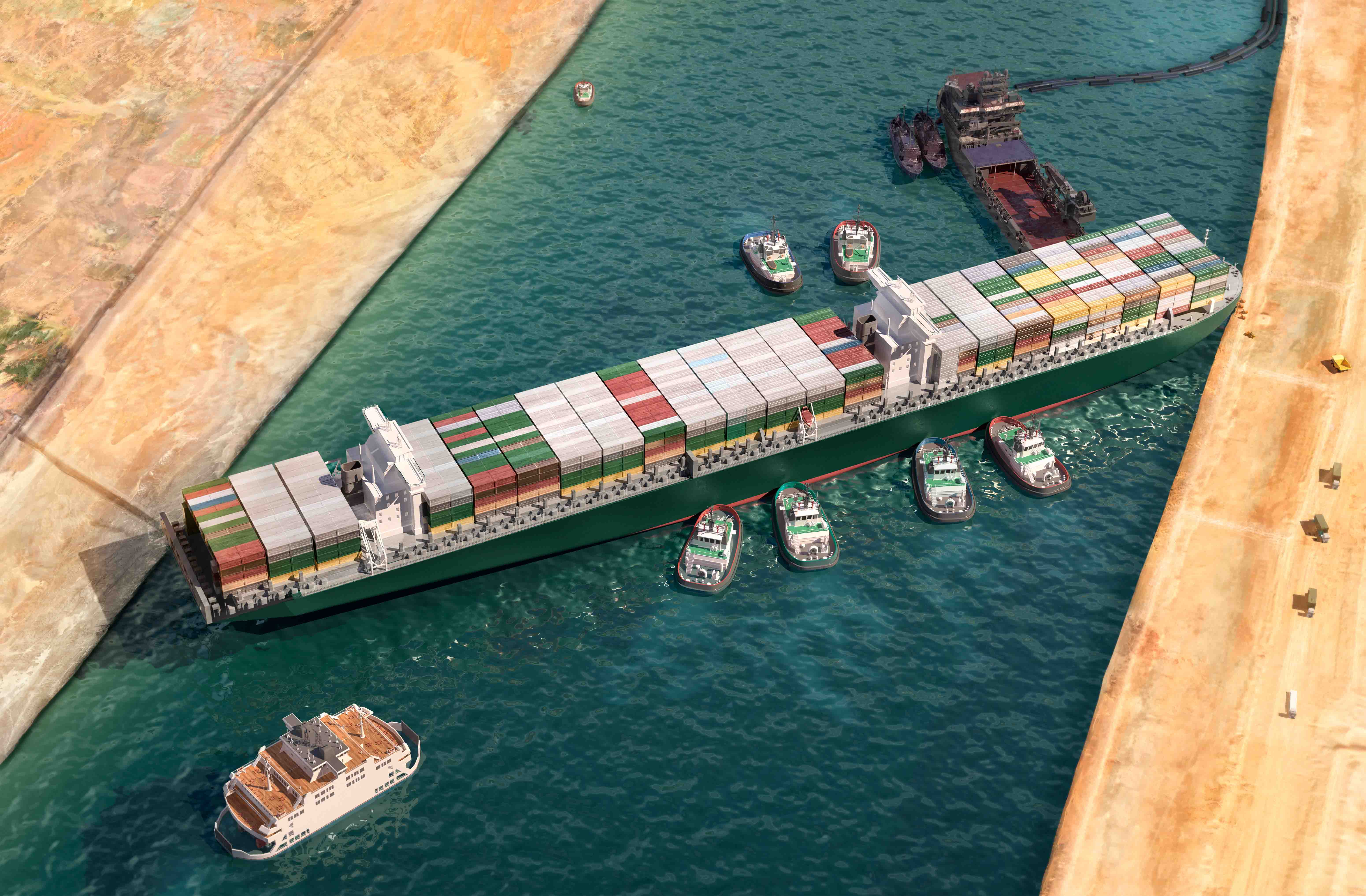 Suez Canal Authority to blame for Ever Given's high speed Atlas Logistic NEtwork