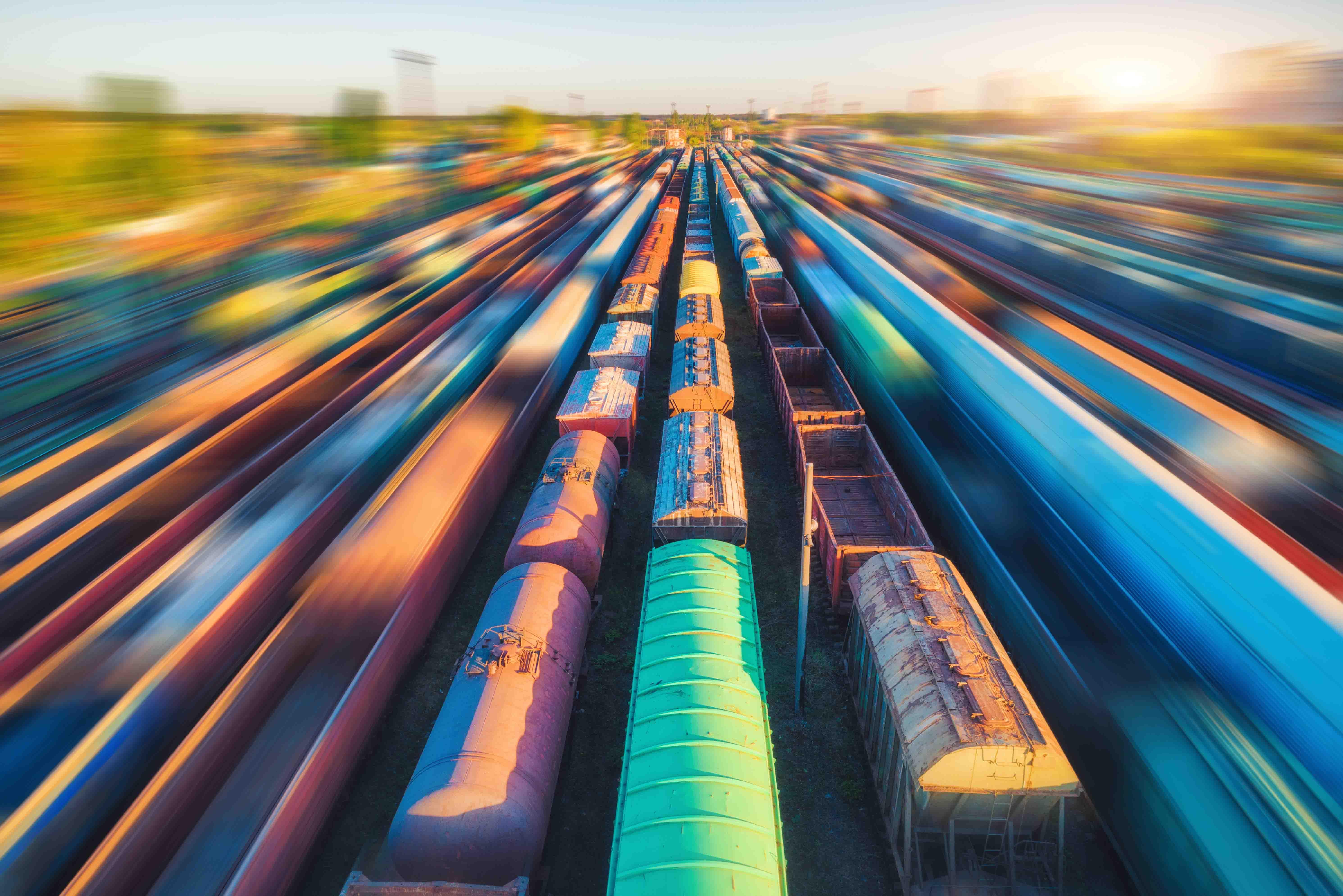 Railcar reflection bakglos Atlas Logistic Netw